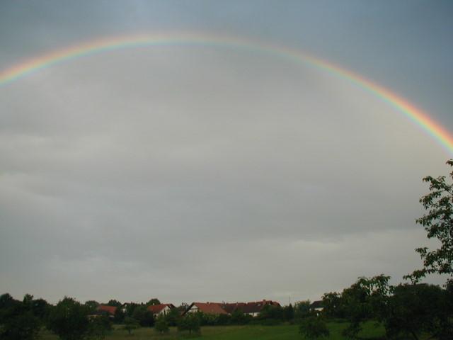 Regenbogen über Weisbach